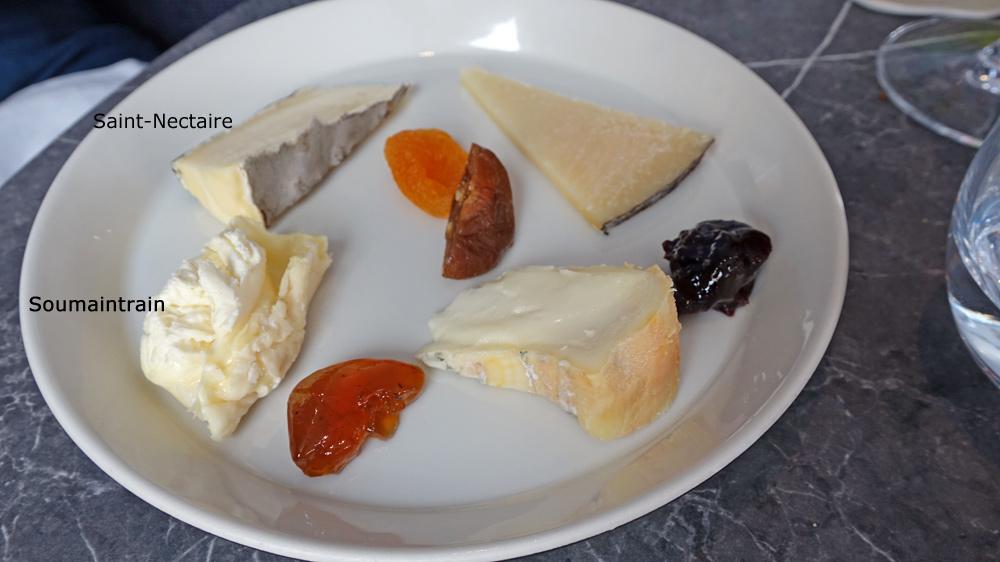 L'assortiment de fromages choisi par Pascale : Saint-Nectaire - Soumaintrain - Manchego - Bel fiuritu