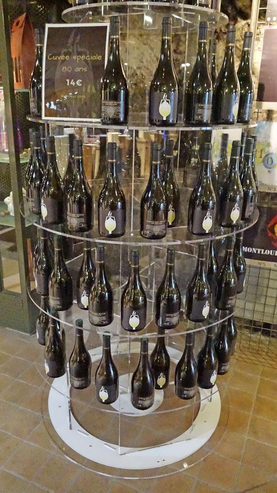 La gamme des vins à la vente