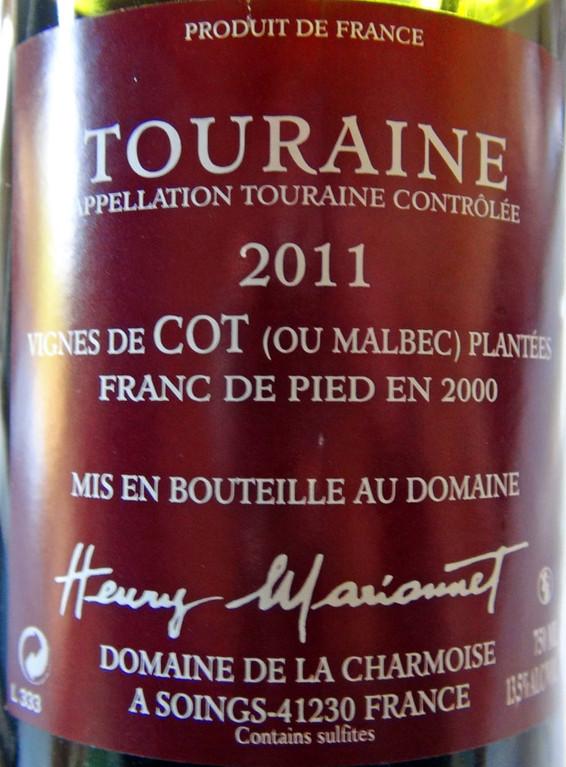 Touraine AOC Vinifera Côt