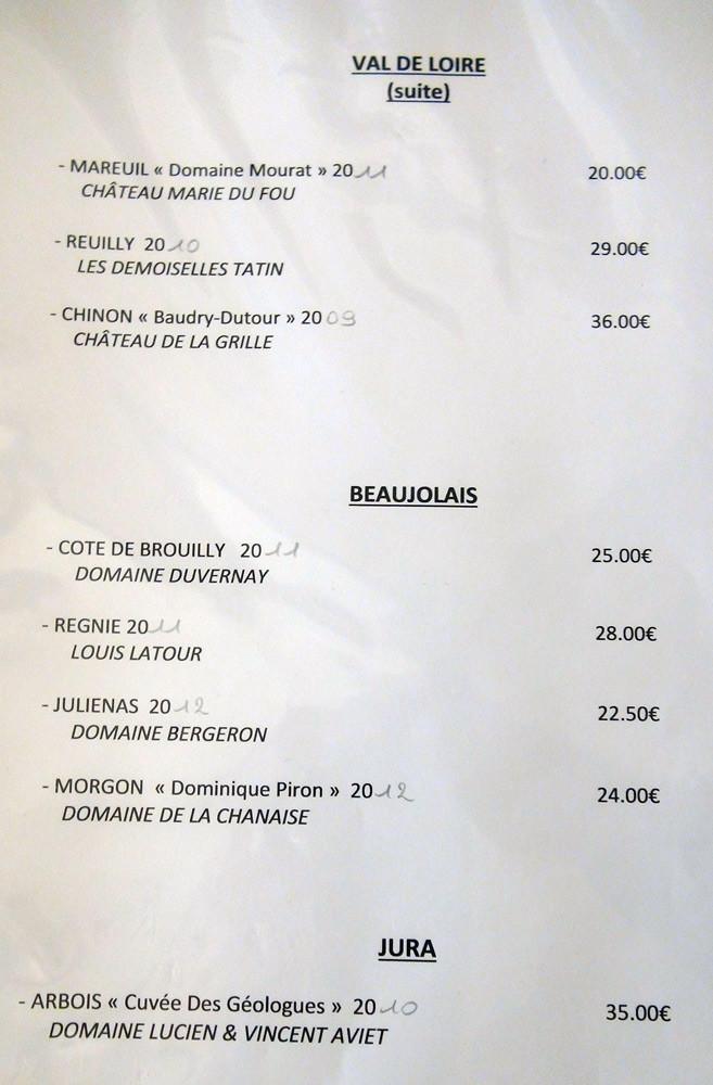 Vins rouges (suite) : Val de Loire, Beaujolais et Jura