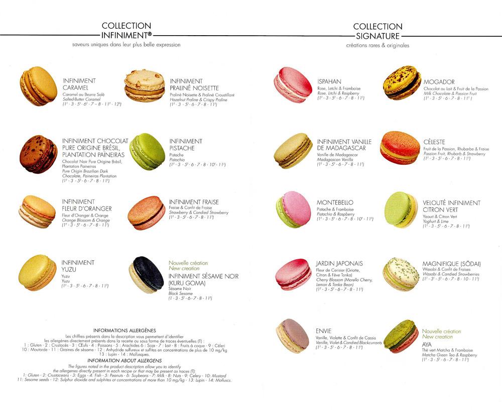 Plaquette informative remise avec les macarons