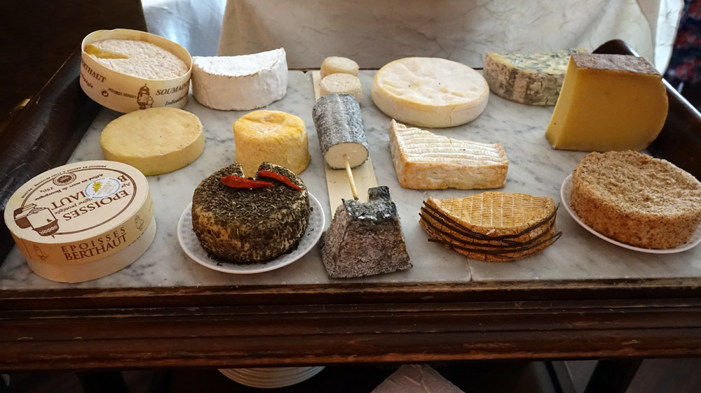 Chariot de fromages