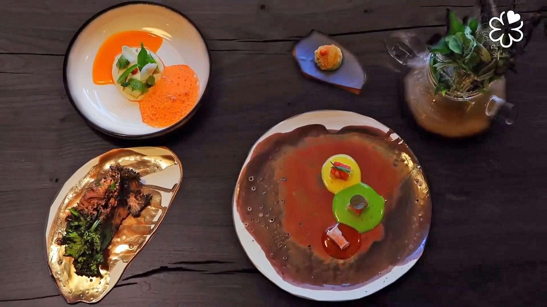Quelques plats d'Alexandre Mazzia - Crédit photo Michelin