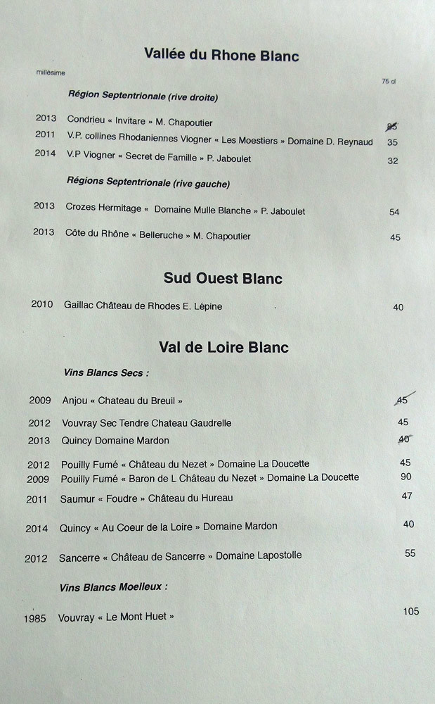 Vallée du Rhône & Sud-Ouest (blanc)