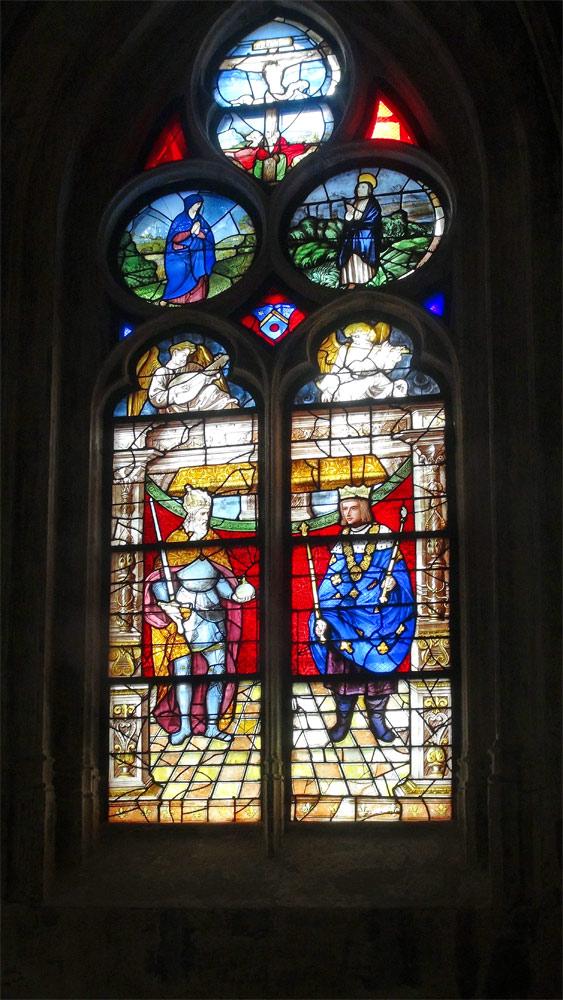 Vitrail : Saint-Louis et Charlemagne