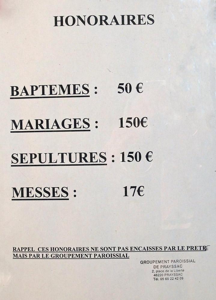 Puy l'Evêque : Eglise fortifiée Saint-Sauveur et les tarifs de ses prestations