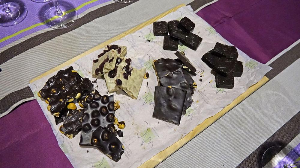 Les chocolats de chez Oster prêts pour les accords avec les Maury