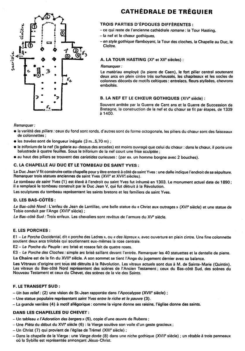 Infos sur la cathédrale de Tréguier