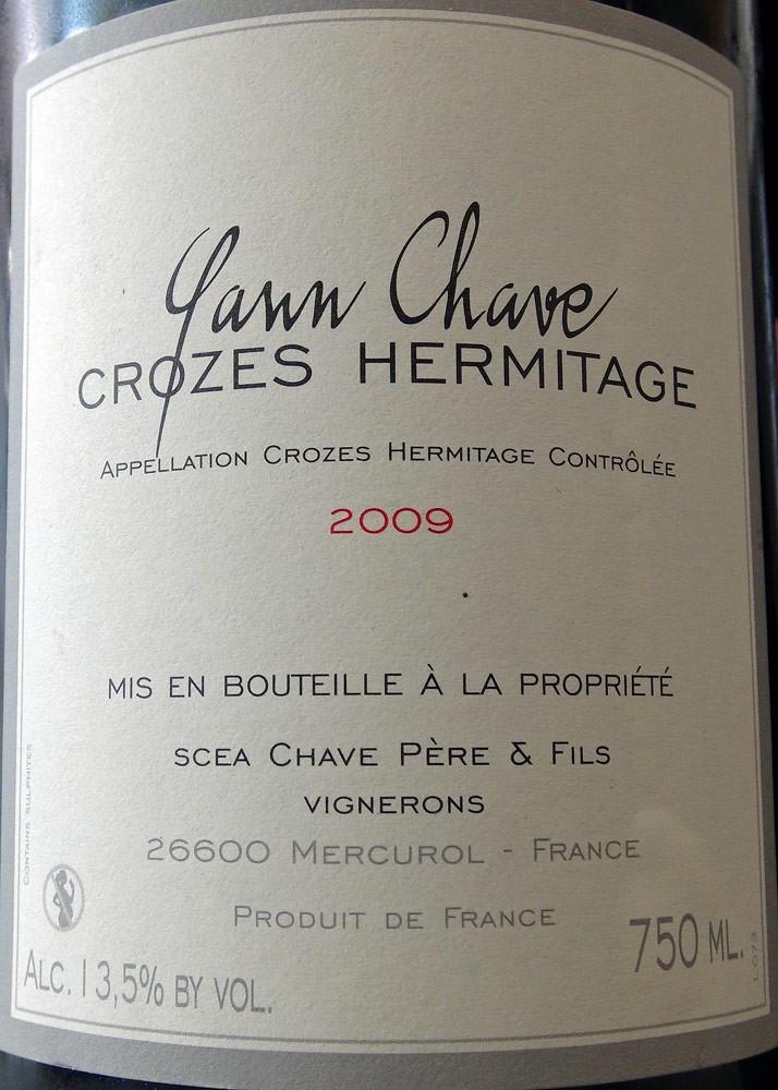 Crozes-Hermitage 2009 - Yann Chave