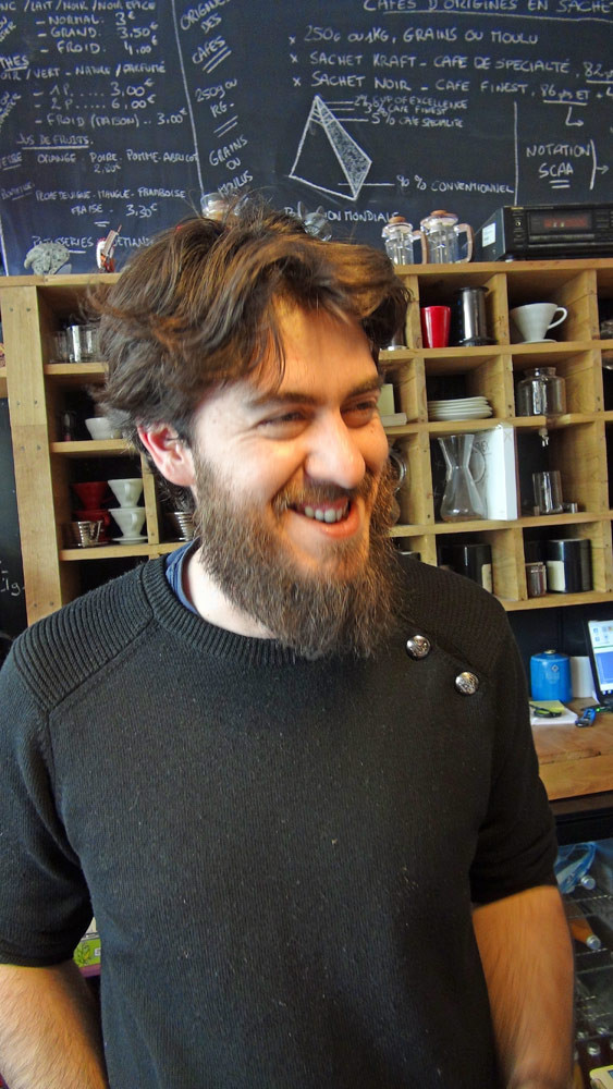 Philippe Exbrayat, le patron-barista des lieux