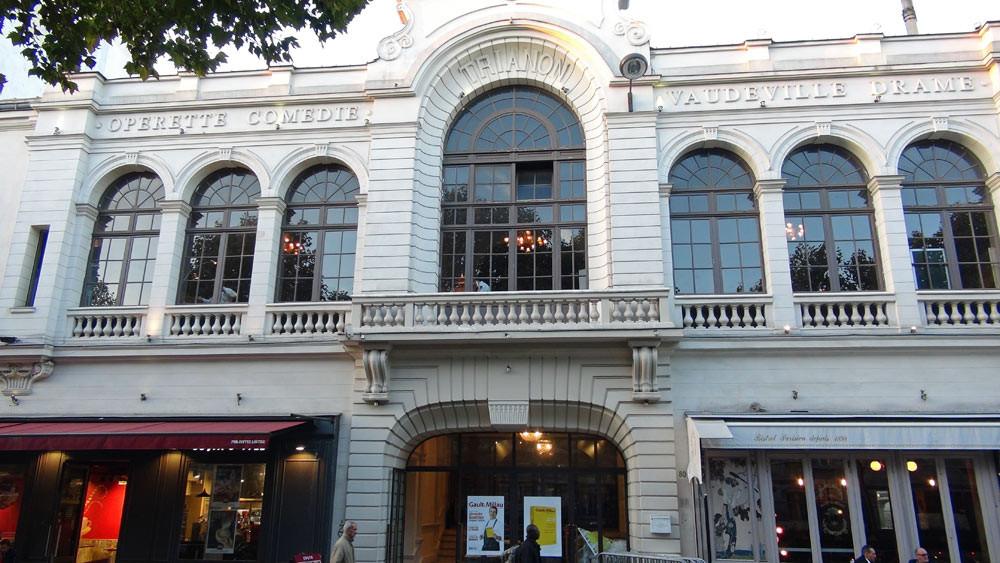 La façade du théâtre du Trianon
