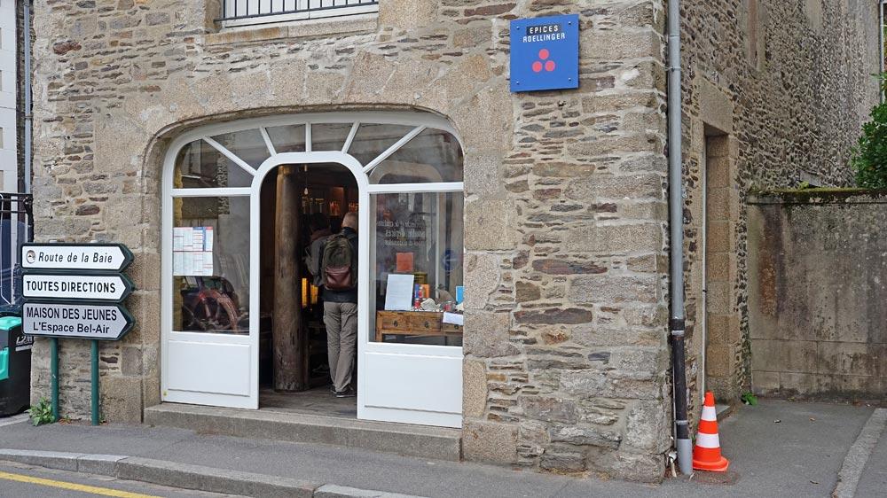 L'entrée de la boutique