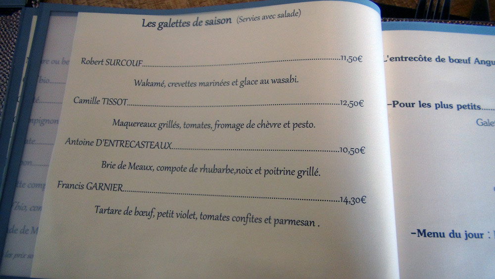 """Les """"galettes"""" de saison"""