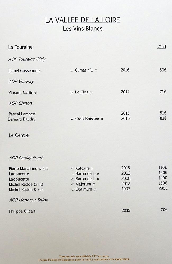 Vins blancs de la Vallée de la Loire, suite et fin
