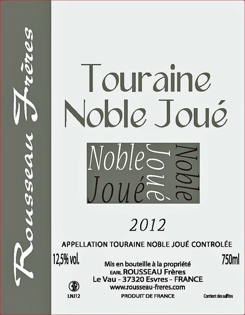 Étiquette Noble-Joué 2012 - Source : site des frères Rousseau