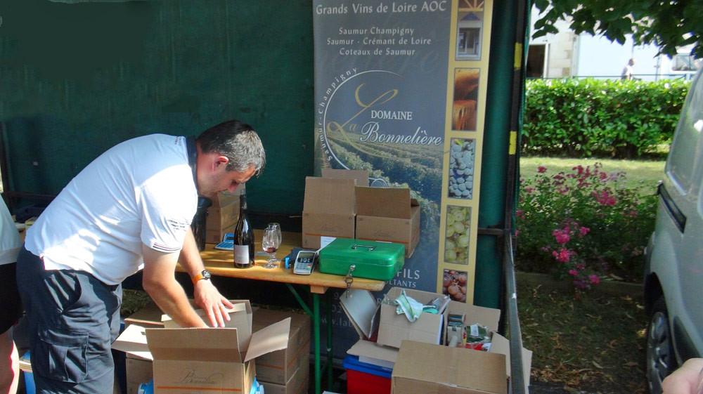 Le stand de Cédric Bonneau