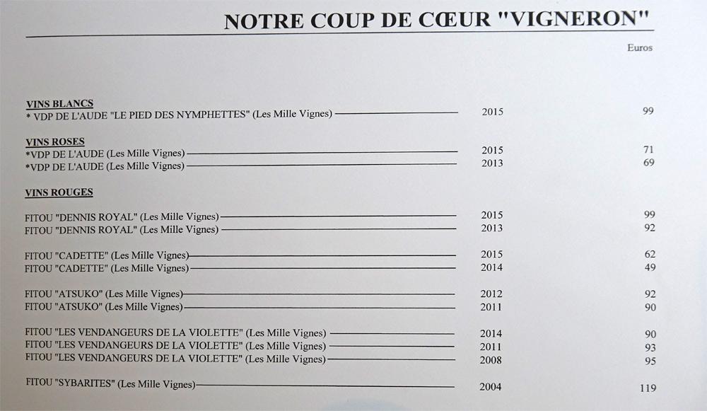 """""""Coup de cœur"""" vigneron"""