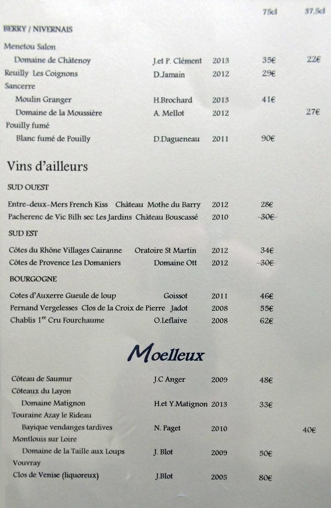 Vins blancs, suite