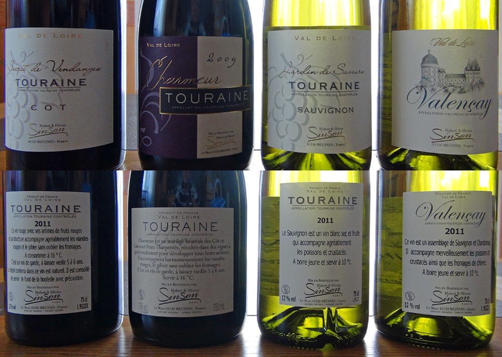 Quelques vins d'Hubert & Olivier Sinson