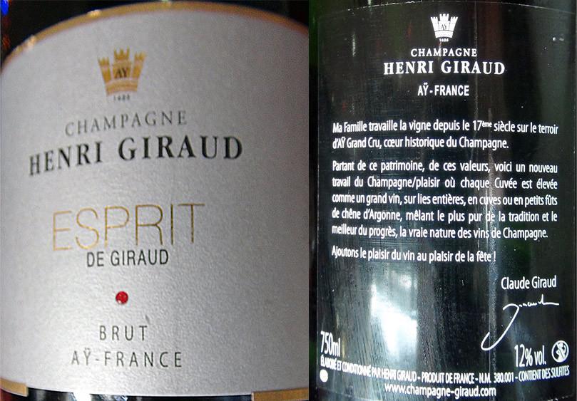 "Champagne Henri Giraud ""Esprit de Giraud"" pour l'apéritif"