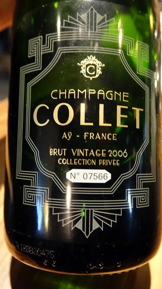 Champagne sur le 4 ème acte (fromage)