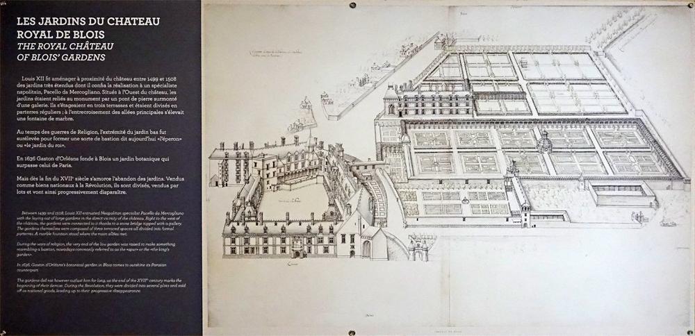 Les jardins du château royal de Blois aménagés à la demande de Louis XII entre 1499 et 1508