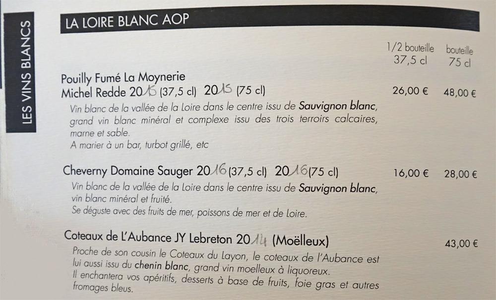 Vins blancs - Loire (suite)