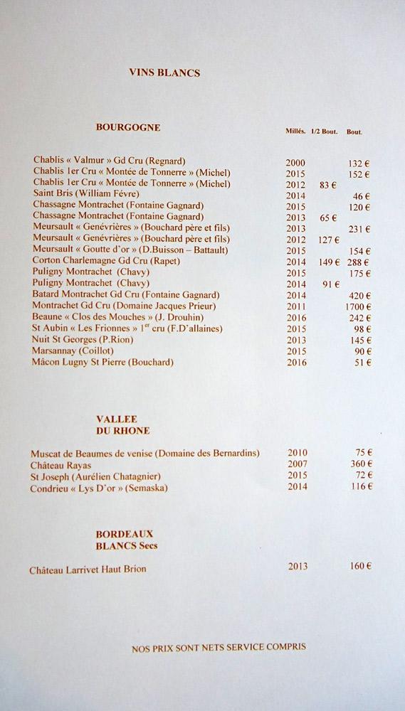 Vins blancs : Vallée du Rhône, Bordeaux ...
