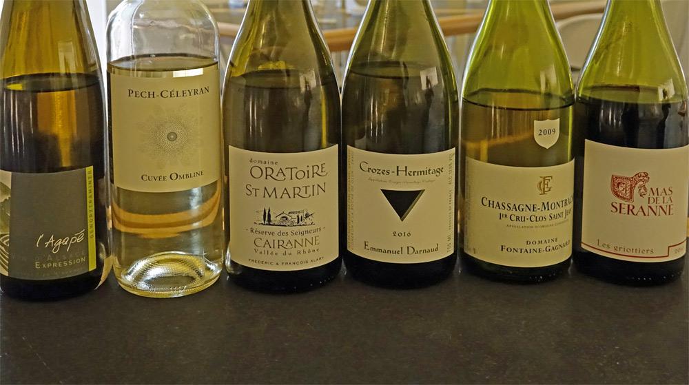 Les vins dégustés