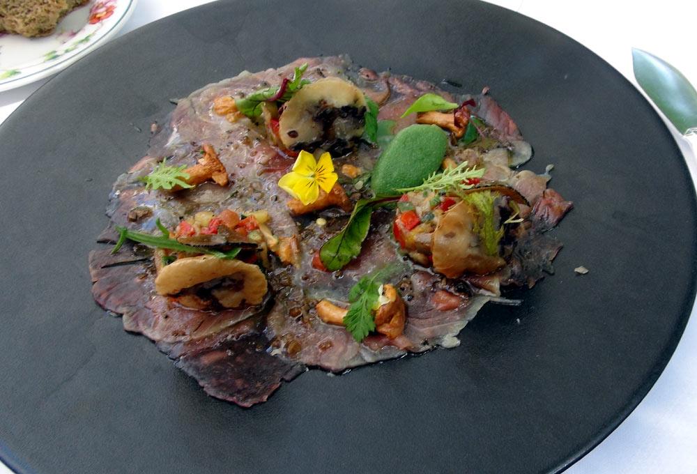 Carpaccio de thon rouge du golfe de Gascogne