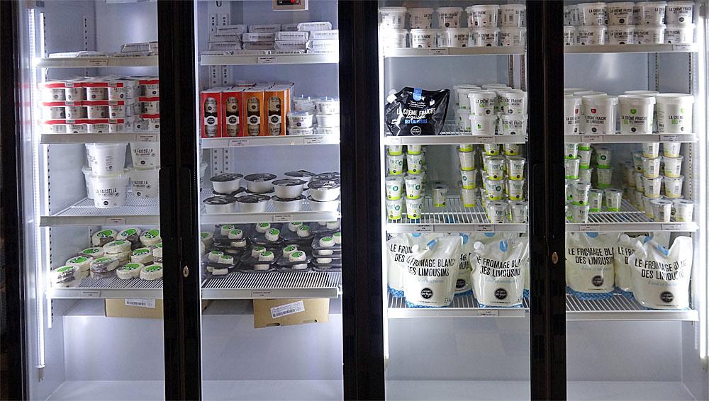 Les produits laitiers proposés à la vente