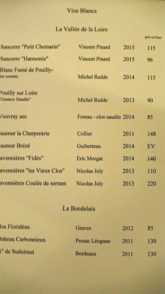 Vins blancs : Vallée de la Loire