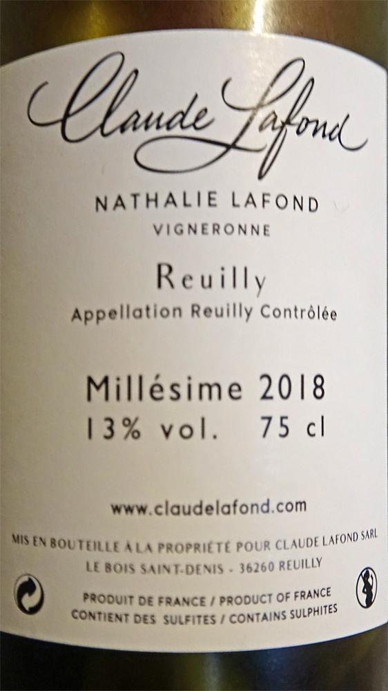 """Reuilly """"La Raie"""" 2018"""