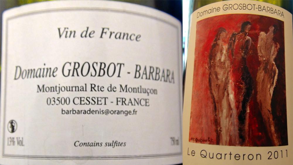 Vin de France blanc Quarteron de Grosbot-Barbara