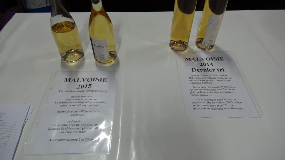 Malvoisie 2015 & Malvoisie dernier tri 2014