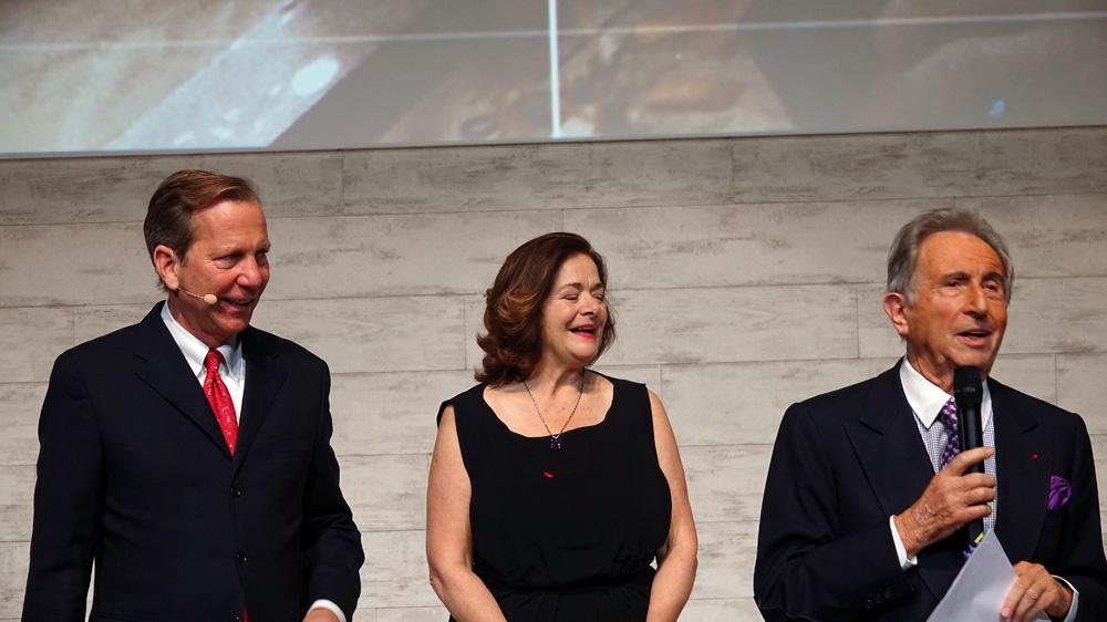 Michael Ellis,  Claire Dorlan-Clauzel et Michel Guérard au Palais Brongniart le jeudi 9 février 2017