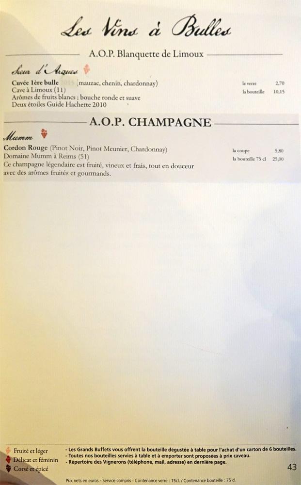 Vins à bulles : AOP Blanquette de Limoux - AOP Champagne