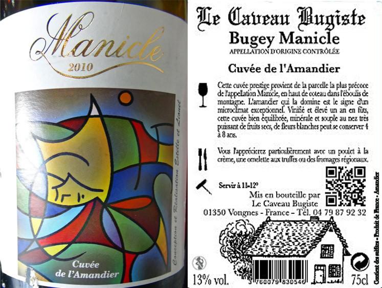 """Bugey Manicle blanc 2011 """"Cuvée de l'amandier"""""""
