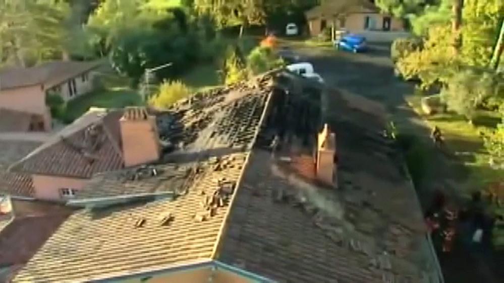Vue du sinistre par au-dessus - Crédit photo FR3 Aquitaine