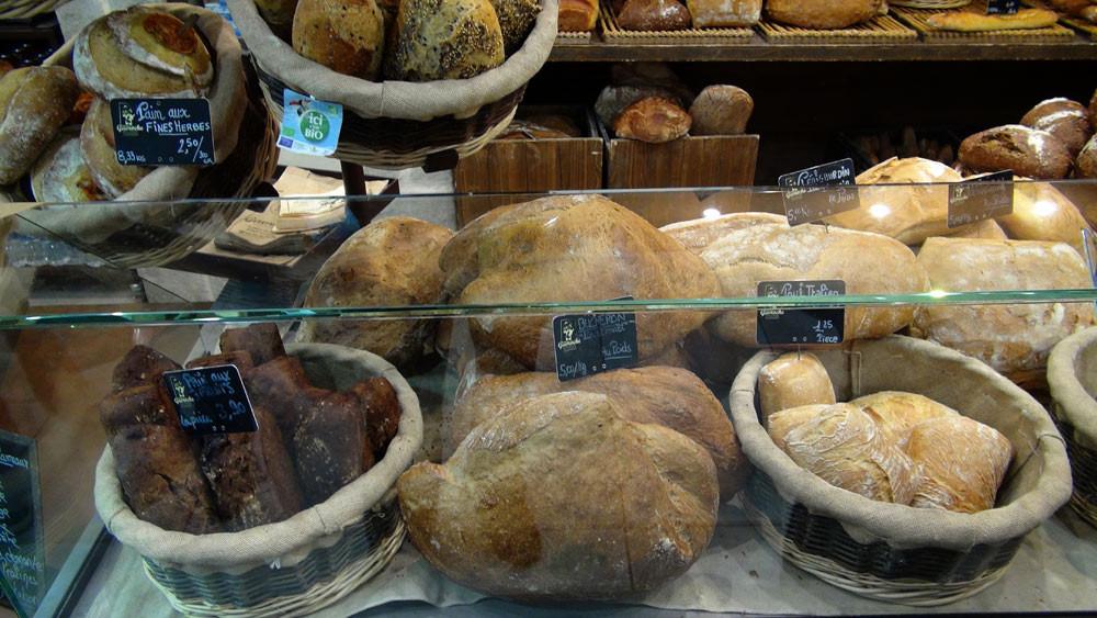 Quelques-uns des  pains disponibles