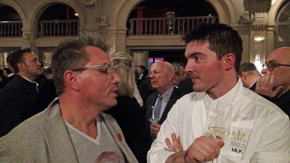 Deux participants convaincus ... Lionel Hénaff, de l'Allium à Quimper, et Mathieu Kergourlay, du Manoir de Lan Kerellec