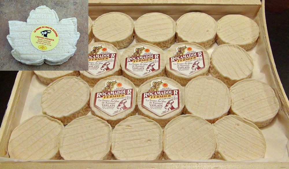 Rocamadour AOP & Feuille de chèvre de la Ferme du Mas de Rouanel