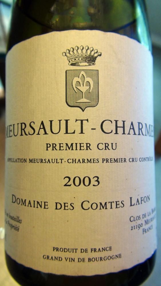 Meursault-Charmes blanc 1er cru 2003 Domaine des Comtes Lafon