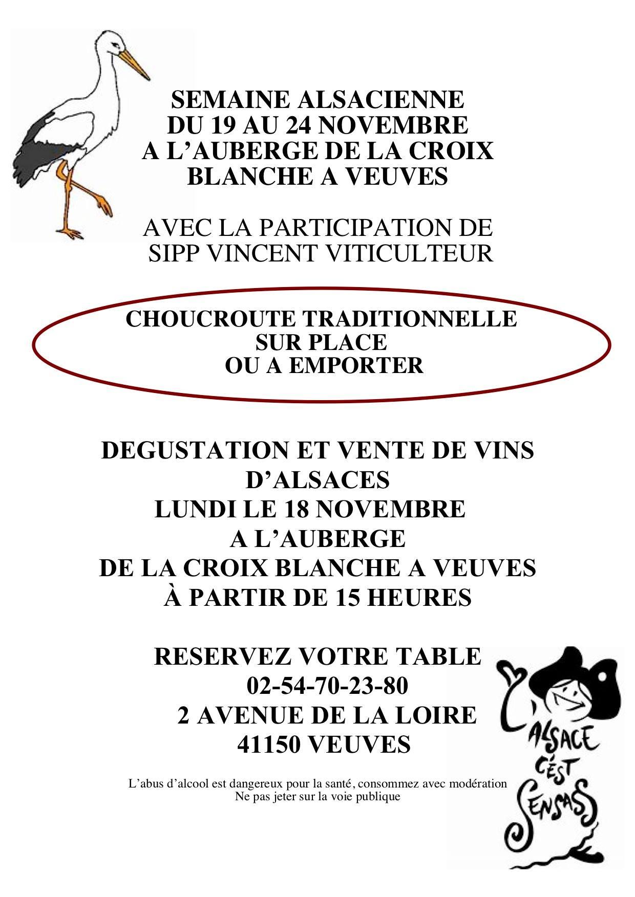 """La semaine """"Alsacienne"""" de La Croix Blanche, avant !"""