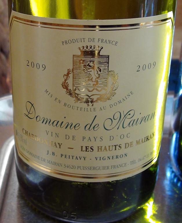 """Domaine de Mairan 2008 """"Chardonnay"""" - Vin de Pays d'Oc"""