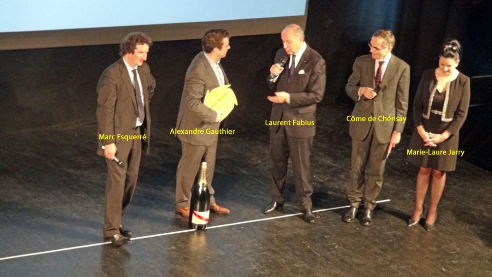 Remise des distinctions du cuisinier de l'année 2016 à Alexandre Gauthier, La Madelaine-sous-Montreuil