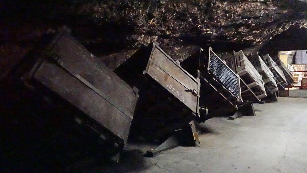 Gyropalettes dans la cave de la Cave