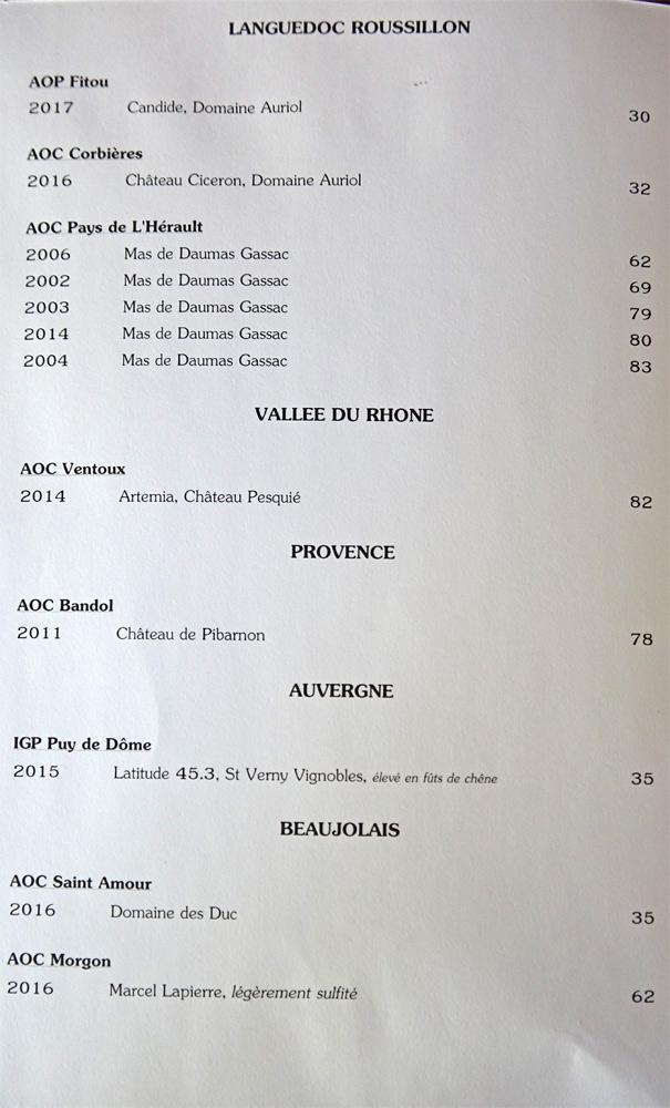 Vins rouges (Languedoc - Rhône - Provence - Auvergne - Beaujolais)