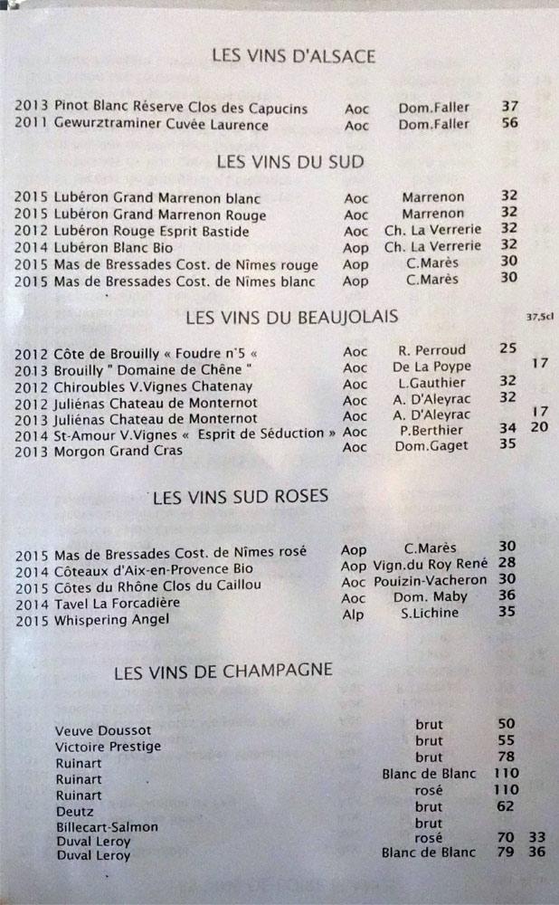 Vins d'Alsace, du Sud, du Beaujolais, de Champagne
