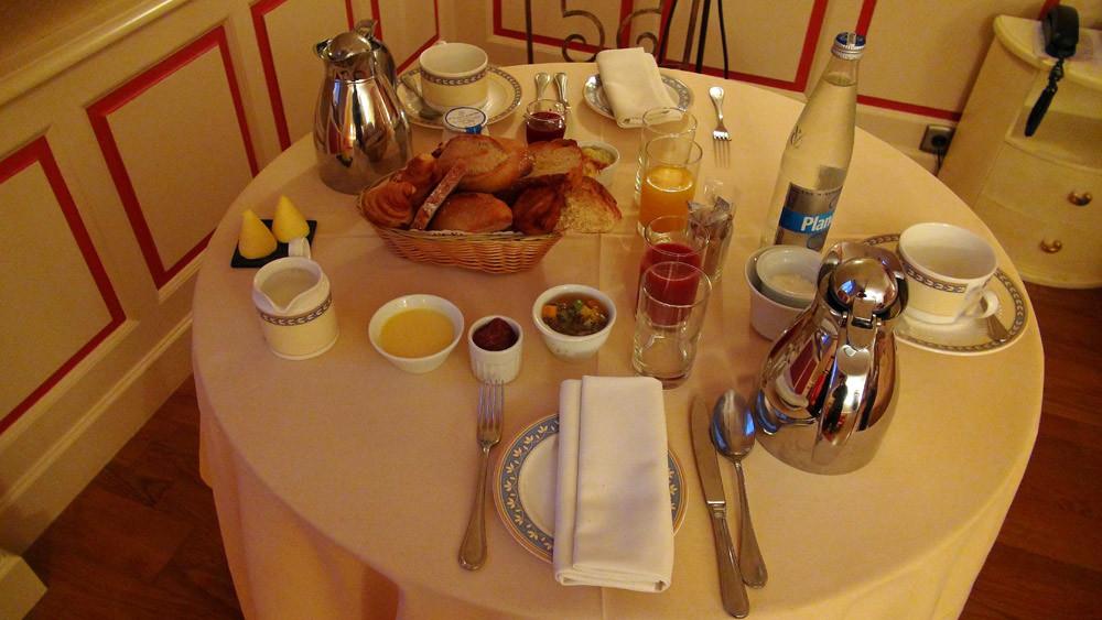 Les petits déjeuners servis en chambre